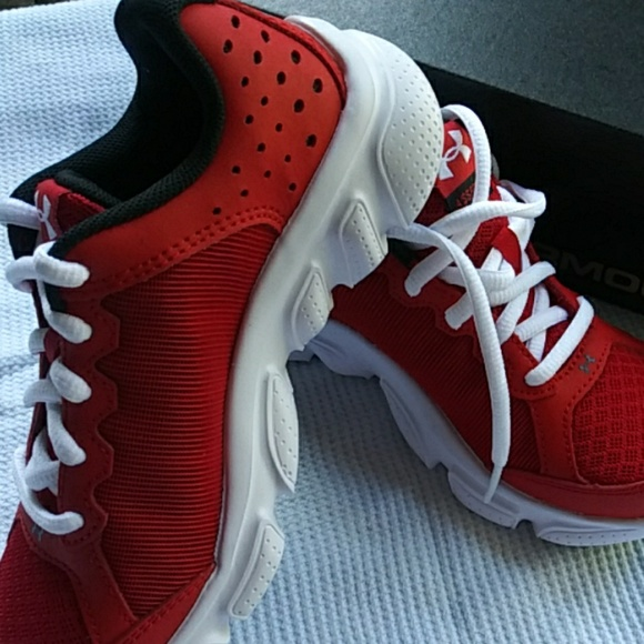 Under Armour Red Tennis Shoes